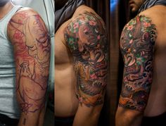 Awesome Hannya Mask Sleeve