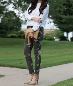 The Sweetest Thing blog, camo skinnies!