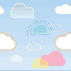 Nuvens vetor fundo