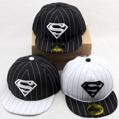 0844dcddfaa Boys-Girls-Stripe-Superman-Kids-Children-Baseball-Hip-Sport-Pop-Cap-Snapback -Hat