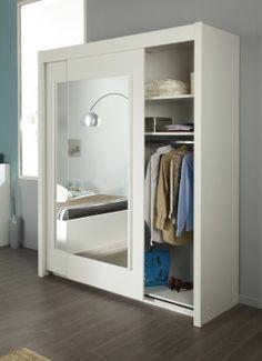 Schwebetüren - Kleiderschrank Alice I#Möbel #weiß #Schlafzimmer #Spiegel #Schrank #Schwebetür #Kleiderschrank