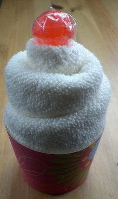 How to Make a Cupcake from a Flannel (Washcloth) - Red Ted Art's Blog