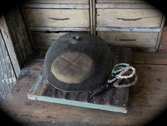 Primitive antique shoo fly food cover and newly made Sweet Liberty Homestead cooling rack. Love prims!