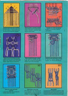 Ideas!!! Conoce los nudos básicos en macramé | Artesanía Llangka