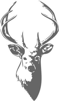Deer Head Wall Decal. $38.00, via Etsy.