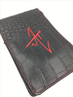 Genuine leather golf scorecard holder with custom logo