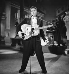 1956 THE STEVE ALLEN SHOW -- Aired July 1, 1956 -- Episode 2 -- Pictured: Elvis Presley sings 'I Want You, I Need You, I Love You' (Photo by NBC/NBCU Photo Bank via Getty Images)