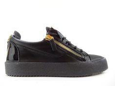 Sneakers Giuseppe Zanotti - Za May London H1 en cuir imprimé croco noir  Chaussures De Luxe b2e0f4c904c