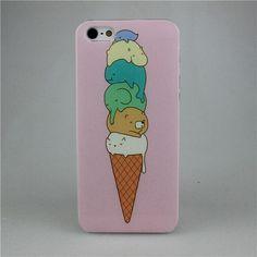 Купить Милый плавления мороженое дизайн пк жесткий чехол для Apple , я телефона iPhone 4 4S 5 5S 5C 6 6 плюси другие товары категории Сумки и чехлы для телефоновв магазине Shenzhen CY group co., LTDнаAliExpress. покрытие мешка и кремы против
