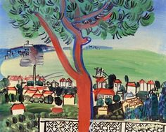 The Pine at Golfe-Juan Artwork by Raoul Dufy Hand-painted and Art Prints on canvas for sale,you can custom the size and frame