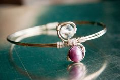 Purple Pearl Swirl Bangle Gifts under 20 by mlwdesigns on Etsy, $15.00