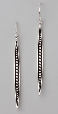 How about in polymer w/beads, stones, or faux stones? [Elizabeth and James Sterling Silver Quill Drop Earrings Jewelry Art, Jewelry Accessories, Fine Jewelry, Jewelry Design, Fashion Jewelry, Sterling Silver Dangle Earrings, Women's Earrings, Silver Bracelet For Girls, Silver Bracelets