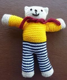 Knitted Teddy Bear ~ Free Pattern ( also in PDF File)