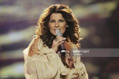 Singer Carola of Sweden performs at the dress rehearsal prior to the semi-finals of the 2006 Eurovision Song Contest May 18, 2006 in Athens, Greece.