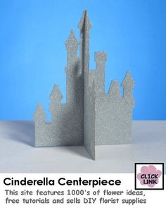 Castle cut out Cinderella Crafts, Cinderella Theme, Cinderella Birthday, Cinderella Wedding, Disney Theme, Disney Bridal Showers, Bridal Shower Gifts, 16th Birthday Decorations, Baby Shower Parties