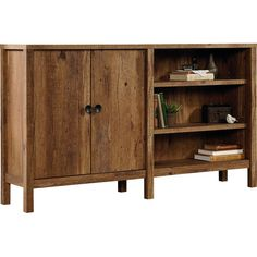 Vintage Oak New Grange Console by Sauder. Get it now or find more Console Tables at Temple & Webster. Birchwood Furniture, Farmhouse Furniture, Console Storage, Tall Cabinet Storage, Wood Cabinets, Accent Cabinets, Adjustable Shelving, Living Room Furniture, Accent Furniture