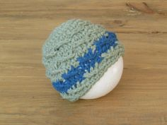 Crochet Baby Beanie Newborn photo prop by LavenderBlossoms on Etsy, $15.00