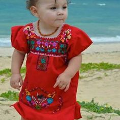 Mexican Embroidered Traditional Dress for Girls Size 2T / 3T