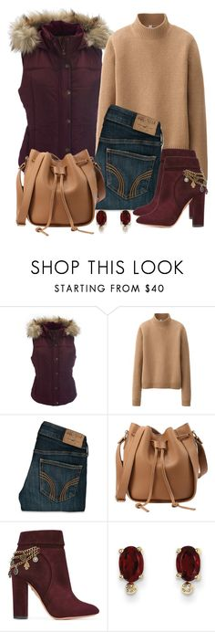 """""""Untitled #1321"""" by gallant81 ❤ liked on Polyvore featuring Aéropostale, Uniqlo, Hollister Co., Aquazzura and Kevin Jewelers"""
