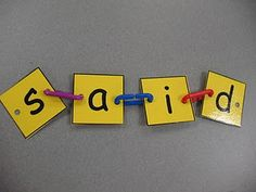 building sight words with links...we all have tons of links, great way to put them to use