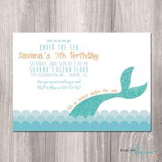 Mermaid Birthday Invitation   Little Mermaid by StyleswithCharm, $12.00