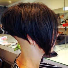 All sizes | Side Bob | Flickr - Photo Sharing! Shaved Bob, Shaved Nape, Angled Bobs, Inverted Bob, Stacked Bobs, Short Shaved Hairstyles, Bob Hairstyles, Funky Short Hair, Short Hair Styles