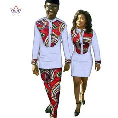 Image of New Lovers Womens Mens African Ankara Clothing Two Sets Matching Couples African Clothes long Sleeve summer wedding dress 6XL WYQ37