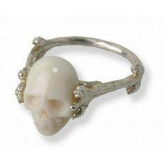 Skull coral ring