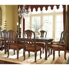 North Shore 7 Piece Dining Set with Upholstered Seating   Weekends Only Furniture and Mattress