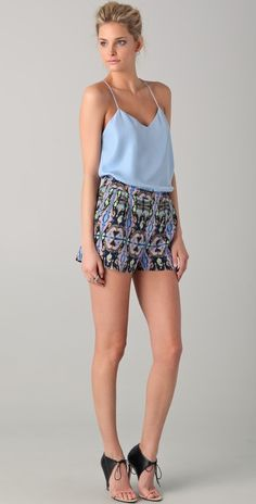 silk top for pattern shorts.