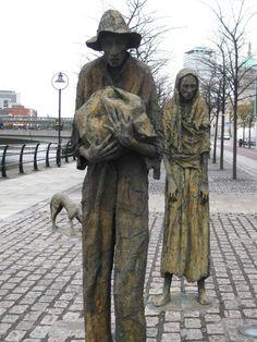 Famine Statues Dublin, Ireland.