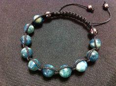 Apatite Shamballa Bracelet GESHA0086 by GemBracelets on Etsy, $35.00