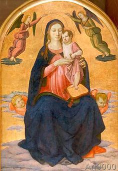 Cosimo+Rosselli+-+Mary+with+the+Child+and+angels