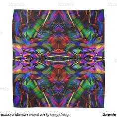Rainbow Abstract Fractal Art Bandana #hippy #gift