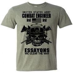 US Army Combat Engineer T-Shirt Sapper Essayons