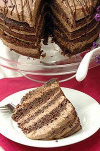 Cake mix with coffee liquer sprinkled over and rich tiramusu layers. No Bake Chocolate Cake, Chocolate Tiramisu, Tiramisu Cake, Mint Chocolate Chips, Sweet Recipes, Snack Recipes, Dessert Recipes, Cake Recipes, Cooking Recipes