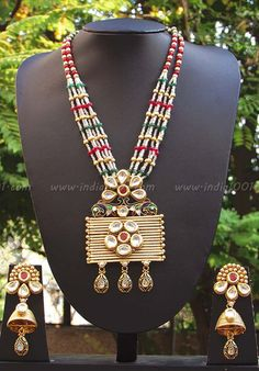 Stunning Kundan, Pearl & Meenakari Necklace Set