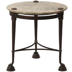 1stdibs | Neoclassical Marble And Bronze Side Table