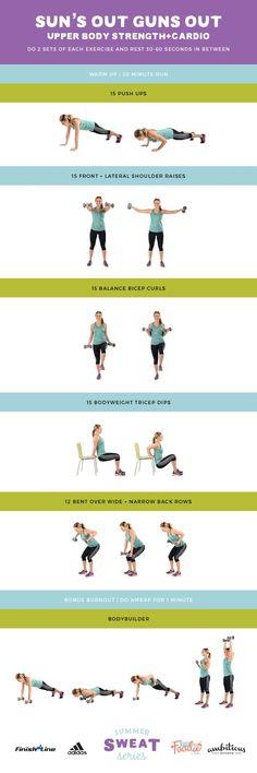 Sun's Out Guns Out Upper Body Strength + Cardio - 2016 Summer Sweat Series