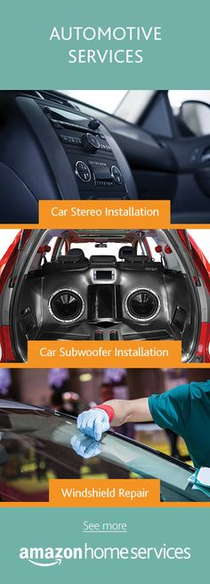 Need car repair or installation services?  Order stereo installation, subwoofer installation, windshield repair and more directly on Amazon.  We'll get you back to singing in your car alone in no time.