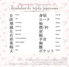 Qué significan los símbolos de los patrones japoneses para tejer a palillo o crochet. http://corriendocontijeras.com/que-significan-los-simbolos-de-los-patrones-japoneses/