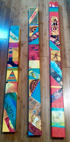 Pylons Painting On Wood, Crackle Painting, Painted Sticks, Outdoor Art, Aboriginal Art, Art Club, Medium Art, Yard Art, Altered Art