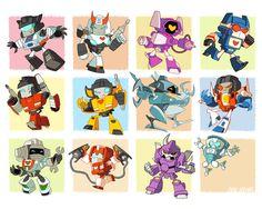 Transformer G1+MTMTE Chibis by dou-hong.deviantart.com on @deviantART