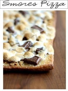 Smores Pizza. It's Written on the Wall