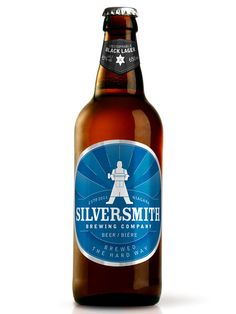Silversmith Brewing Company bottles, designed by insite.