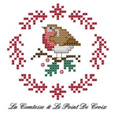 Christmas Robin (The Countess & Cross-Stitch), amp Christmas die DIYChristmas Countess .Christmas Robin (The Countess & Cross-Stitch), amp Christmas die DIYChristmas Countess Amigurumi Cute Dog Crochet Pattern Free - Páxina 3 de 3 Cross Stitch Christmas Ornaments, Xmas Cross Stitch, Cross Stitch Cards, Cross Stitch Animals, Christmas Embroidery, Cross Stitching, Cross Stitch Embroidery, Embroidery Patterns, Hand Embroidery