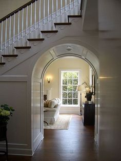 Love the arch under the staircase