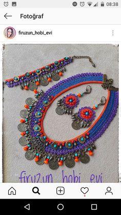 Crochet Necklace, Beaded Necklace, Necklaces, Textiles, Friendship Bracelets, Beads, Jewelry, Diy Kid Jewelry, Bottles