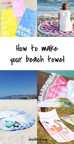 5 ways to make yourself a beach towel