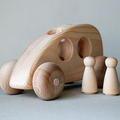 "Wooden Toy ""Hybrid"" Car from Bella Luna Toys"